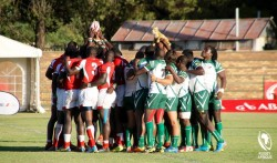 Kenya and Zimbabwe before the final of the 2015 Olympic Qualifiers.jpg
