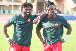 Two Cameroonian Rugby Players Post Game.JPG