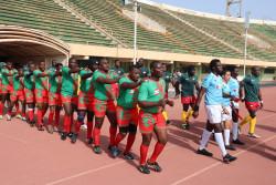 Pre game walkout of Burundi and Cameroon men's teams with Societe Generale .JPG